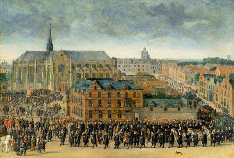 Ommegang op de Zavel te Brussel in 1615