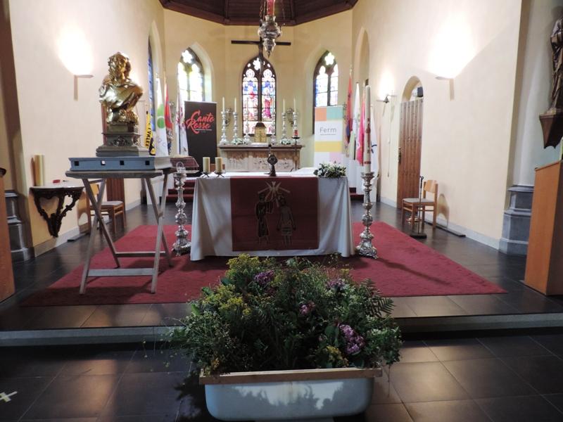 Openingsviering noveen met Sint-Jansbeeld
