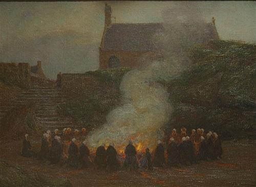 Sint-Jansvuur, olieschilderij Edgard Farasyn